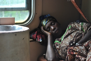 on the train to Tabora